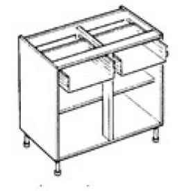 Double Drawer Line Base Cabinet