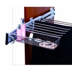 Pull - Out Trouser Rack with Basket