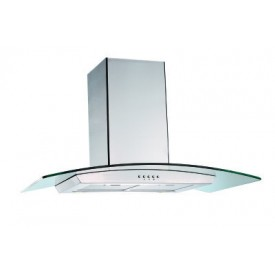Curved Glass Chimney Hood 900mm