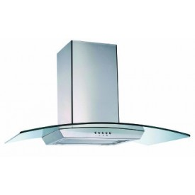 Curved Glass Chimney Hood 600mm