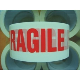 50mm Black & Yellow Fragile Tape